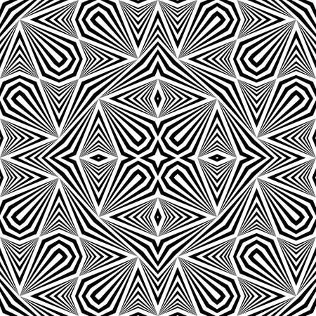 Design seamless monochrome decorative pattern. Abstract striped background. Vector art Illustration