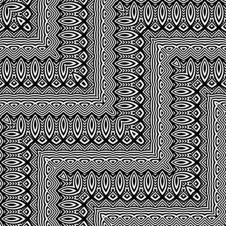 Design seamless monochrome zigzag pattern. Abstract decorative background. Vector art. No gradient Stock Vector - 93842040