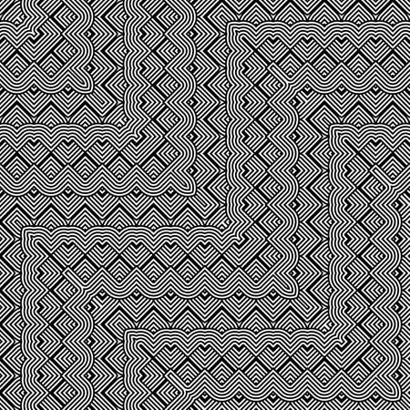 Design seamless monochrome zigzag pattern. Abstract striped background. Vector art. No gradient
