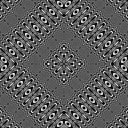 Design seamless lacy pattern. Abstract decorative background vector art no gradient. Ilustração