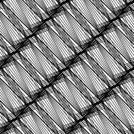 Design seamless monochrome striped pattern. Abstract lines textured background. Vector art. No gradient