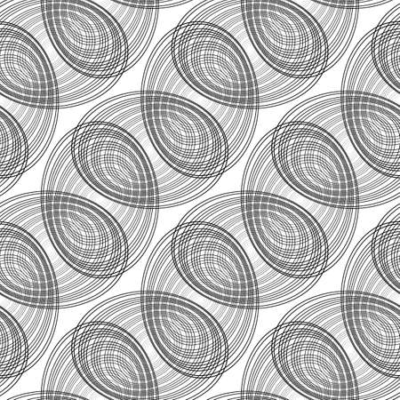 Design seamless monochrome geometric pattern. Abstract lines textured background. Stock Vector - 95183505