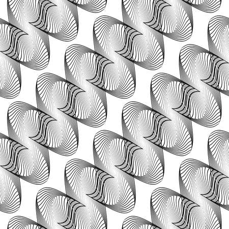 Design seamless monochrome decorative pattern. Illustration