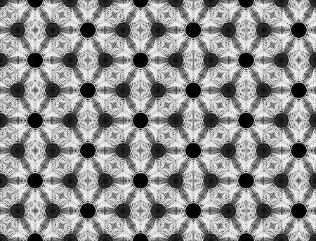 Design seamless monochrome geometric pattern. Abstract lines textured background. Illustration