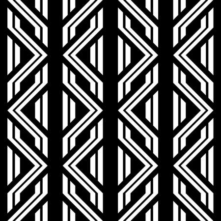 Design seamless monochrome geometric pattern. Abstract background. Illustration