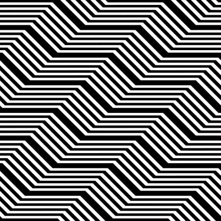 Design seamless monochrome zigzag pattern. Abstract stripy background.