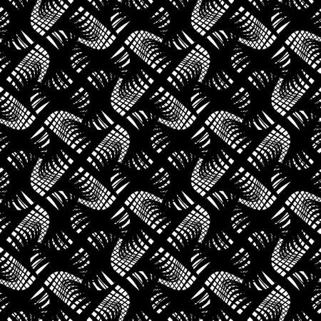 Design seamless monochrome grating pattern. Abstract lines textured background. Vector art. No gradient