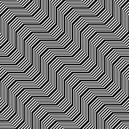 Zigzag pattern design with abstract stripy backdrop