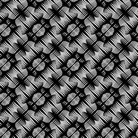 Design seamless monochrome grating pattern. Abstract lines textured background Vector illustration.