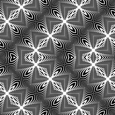 Design seamless monochrome decorative pattern. Abstract zigzag background. Vector art.