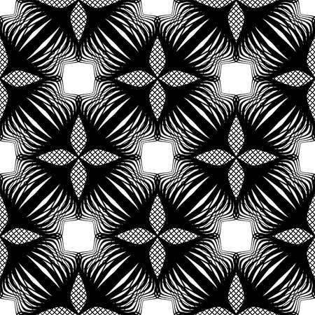 Seamless monochrome flower pattern design.