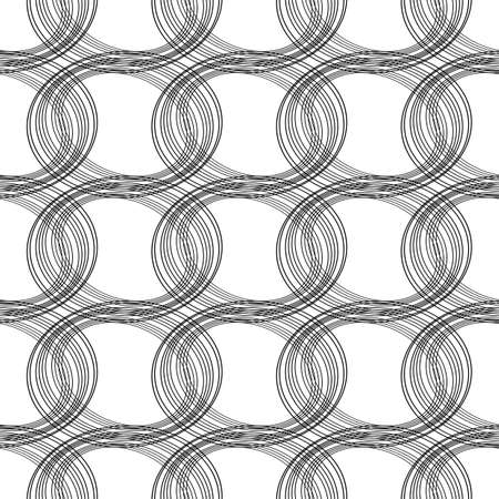 Seamless monochrome ellipse pattern.