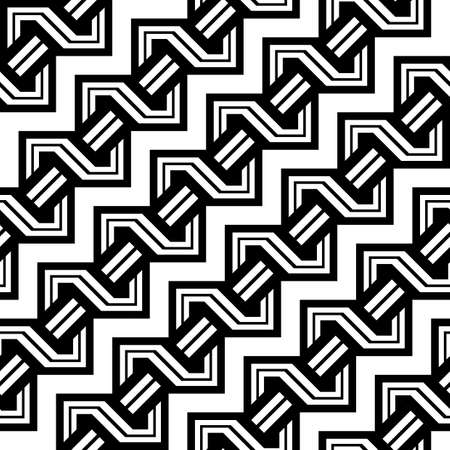 Design seamless monochrome zigzag pattern, Abstract background.