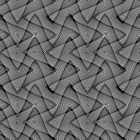Design seamless monochrome waving pattern, Abstract background.
