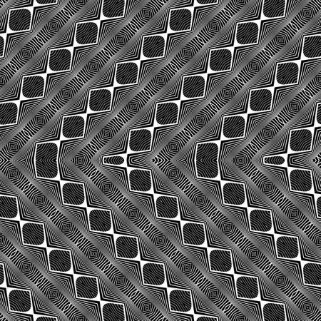 Design seamless monochrome zigzag pattern, Abstract decorative background.
