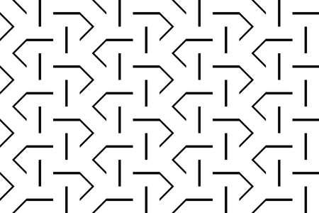 Design seamless monochrome zigzag pattern, Abstract decorative background.