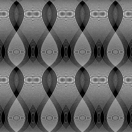 Design seamless monochrome waving pattern. Abstract background. Vector art.