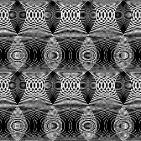 Design seamless monochrome waving pattern. Abstract background. Vector art.