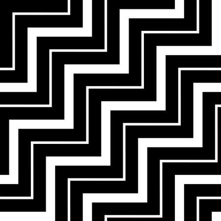 Design seamless monochrome zigzag pattern. Abstract stripy background. Vector art Stock Vector - 96632432