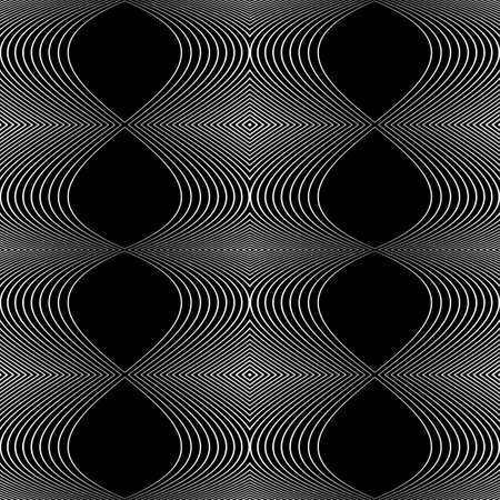 Design seamless monochrome abstract background. Vectores