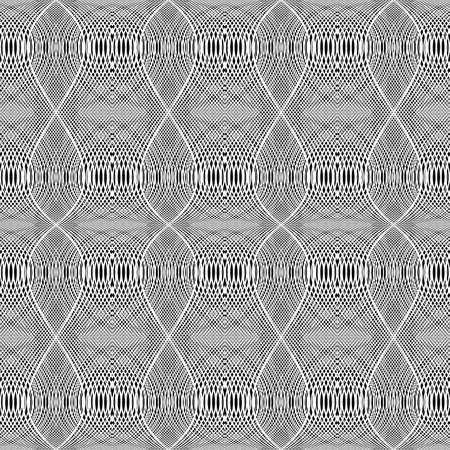 Design seamless monochrome grid wavy pattern. Stock Vector - 97046198