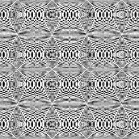 Design seamless monochrome grid wavy pattern.