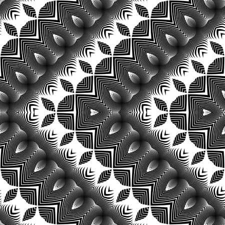 Design seamless monochrome zigzag pattern. Abstract decorative background.