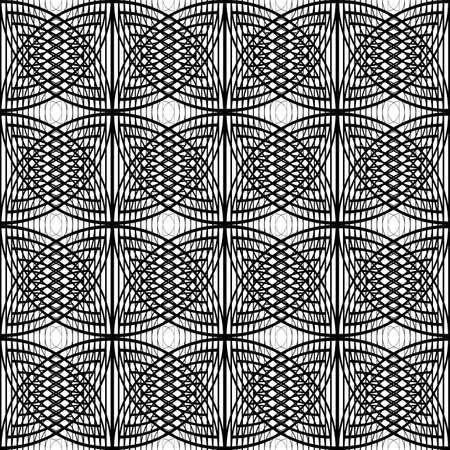 シームレスなモノクログリッドパターンを設計します。 写真素材 - 97046231