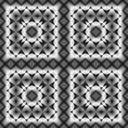 Design seamless monochrome geometric pattern.