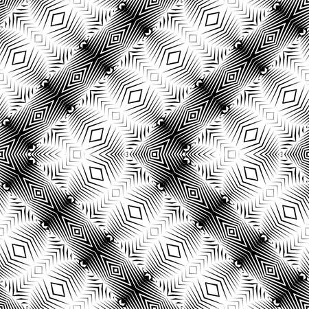 Design seamless monochrome decorative pattern. Abstract zigzag background.