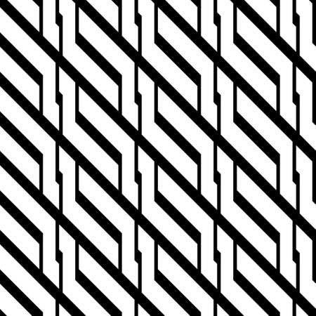 Design seamless monochrome zigzag pattern. Abstract background. Vector art