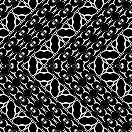 Design seamless monochrome zigzag pattern. Abstract illusion background. Vector art. No gradient Ilustrace