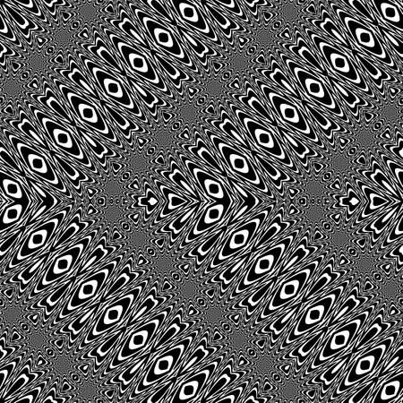 Design seamless monochrome zigzag pattern. Abstract decorative background. Vector art. No gradient
