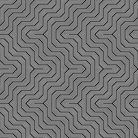 Design seamless monochrome zigzag pattern. Abstract stripy background. Vector art. No gradient Stock Vector - 97948220