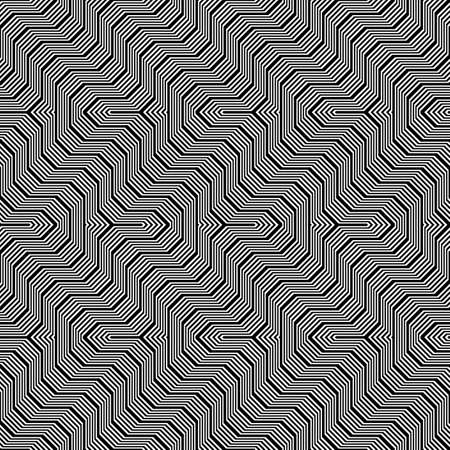 Design seamless monochrome zigzag pattern. Abstract stripy background. Vector art. No gradient