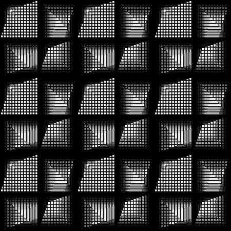 Design seamless monochrome grid pattern. Abstract geometric background. Vector art. No gradient illustration. 向量圖像