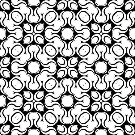 Design seamless monochrome waving pattern. Abstract zigzag background.