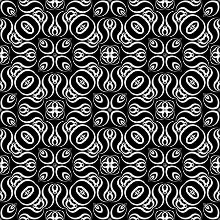 Design seamless monochrome waving pattern. Abstract zigzag background.