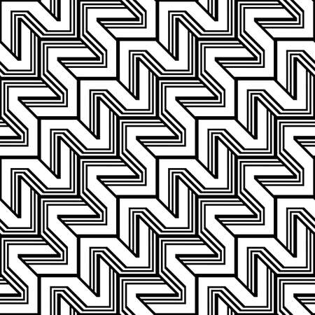 Design seamless monochrome zigzag pattern. Abstract background.
