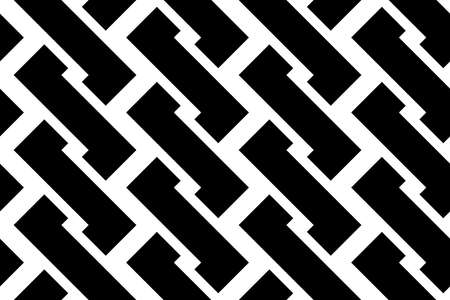 Design seamless monochrome zigzag pattern. Abstract background vector art. Ilustrace