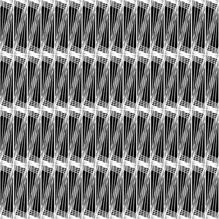 Design seamless monochrome striped pattern. Abstract lines textured background vector art, no gradient. Ilustração