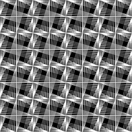 Design seamless monochrome geometric pattern. Abstract lines textured background vector art, no gradient.