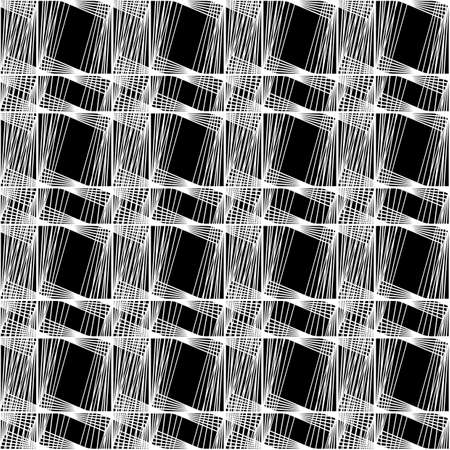 Design seamless monochrome geometric pattern. Abstract lines textured background. Ilustrace