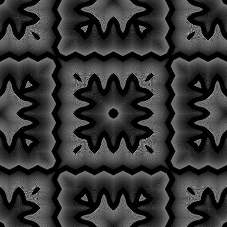 Design seamless monochrome lacy pattern. Abstract decorative background. Vector art. No gradient Ilustração