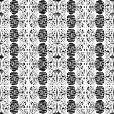 Design seamless monochrome lacy pattern. Abstract decorative background. Vector art. No gradient Illusztráció