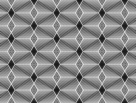Design seamless monochrome grid pattern. Abstract geometric background. Vector art.