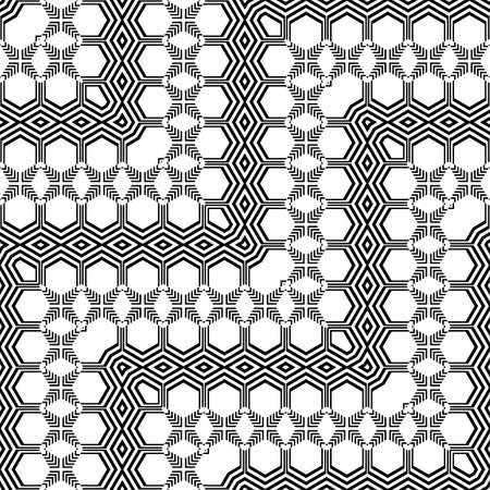 Design seamless monochrome zigzag pattern. Abstract striped background. Vector art. Illustration