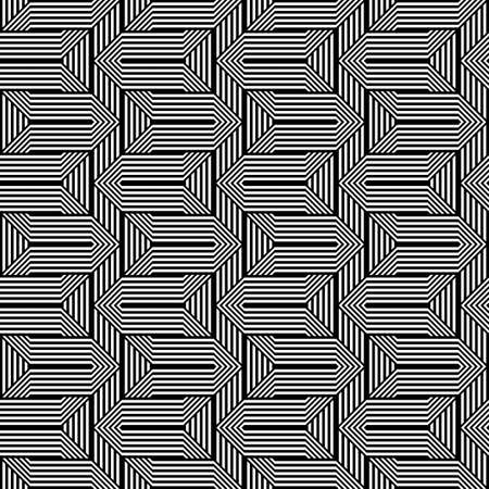 Design seamless monochrome zigzag pattern. Abstract stripy background. Vector art Stock Vector - 101111708