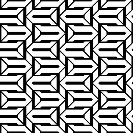 Design seamless monochrome zigzag pattern. Abstract stripy background. Vector art Stock Vector - 101873910