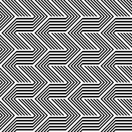 Design seamless monochrome zigzag pattern. Abstract stripy background. Vector art Stock Vector - 101815800